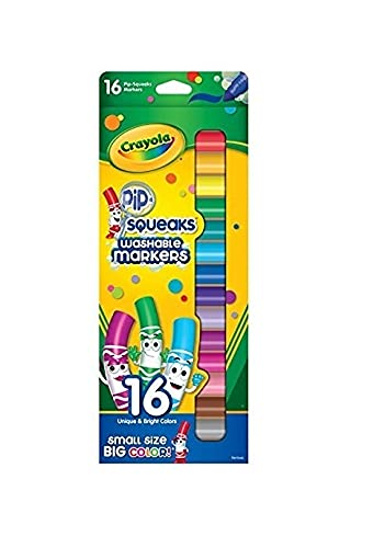 Crayola Washable Pip-Squeaks Washable Markers, 16 Count