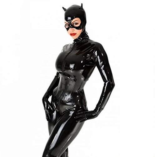 Halloween Mujer Cosplay Catwoman Jumpsuit Disfraz Vestido Cuero De PU Catsuit Elegante Body Ajustado Plus Size S-5XL