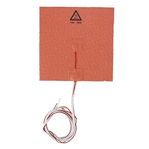 ASHATA 3D-printer heet bed, snelle opwarming, lage prestaties, hoge temperatuur, gelijkmatige warmteoverdracht, lange levensduur voor 180 W, 110 V, 150 x 150 mm, bestand tegen hoge temperaturen