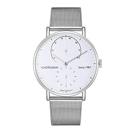 Hombre Reloj de Vestir Cuarzo Elegante Casual Calendario/Fecha/día Analógico Blanco + Dorado Negro Plata/Un año/Aleación de Titanio