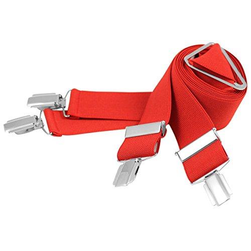 Lindenmann Mens Braces/Suspenders/mens suspenders, X-shape, 30 mm stetch, XXL, red, 9157-004, Größe/Size:110