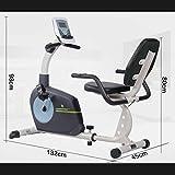 Exercise bike Cyclette Orizzontale con Schienale, Bici da Spinning a Controllo Magnetico Domestico, Attrezzatura per Allenamento di Riabilitazione Indoor per Anziani