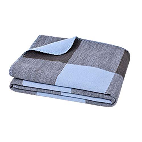 ZHAO YELONG Einfache Freizeit Multifunktions Weiche Halten Warme Decke Schal Sofa Büro Nickerchen Decke (Farbe : Blau)