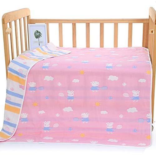 Nouveauté mode Six couches serviette de bain bébé coton, serviette enfant nourrisson, bébé enfant de gaze, 6 couches couverture enfants pour salle de bain (Color : C-5, Size : 120 * 150)