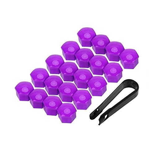 LinYom Protector A Prueba De Polvo 17mm Auto Hub Tornillo Tornillo Automático Torno Neumático Tuerca Perno Estilo De Coche 20pcs Anti-Rust Rust Rueda Tuerca Tuerca Tapas (Color Name : Purple)
