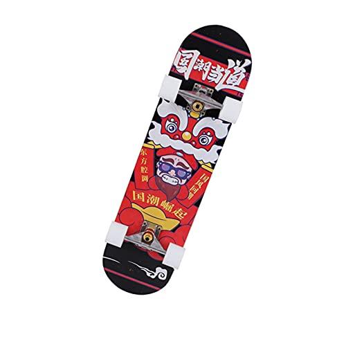 Pegatina de monopatín Skateboards 31inch Skateboards para adultos u adolescentes, tablero de skate Cruiser de arce, incluyendo camión, ruedas de PU, patrón trasero La mayoría de los suministros deport