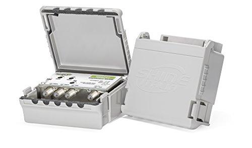 Amplificatore da palo 3 Ingressi (BIII 32dB / 2xUHF 40dB) Livello di uscita 108dBµV - Immune dai disturbi LTE/4G - MADE IN EUROPE