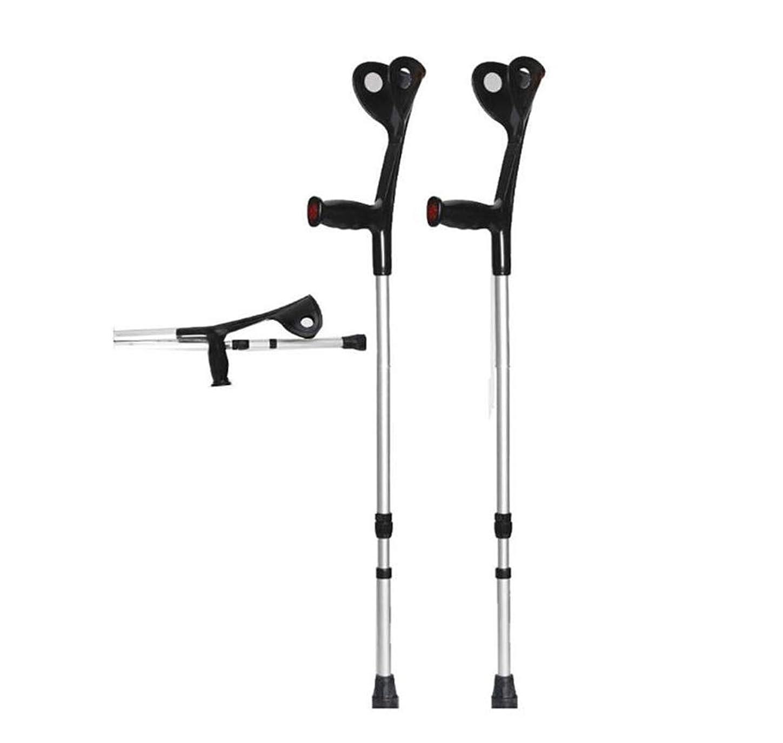 起きる等リビジョン松葉杖折りたたみ歩行前腕松葉杖軽量アームカフ松葉杖調節可能な脇の松葉杖大人用, 人間工学に基づいたハンドル
