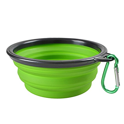 TONVER Cuenco plegable de silicona para perro, alimentador de agua y comida...