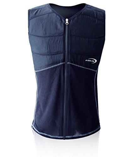 E.COOLINE Powercool SX3 ShirtWeste erfrischend kühlend mit Nierenschutz Unisex-Erwachsene, Schwarz, 106-114 cm Brustumfang