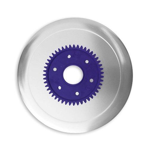 Schinkenmesser elektrolytisch poliert lila für RITTER Multischneider fortis 1, fondo 1, pino 2, E 16, E 18, E19, E 21, E 118, AES/Allesschneider/Messer/Ersatzmesser/Aufschnittmesser