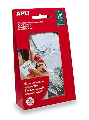 APLI 7009 - Etiquetas colgantes blancas 15 x 24 mm 200 u.