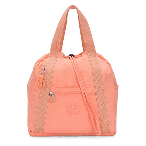 Kipling Women's Art Small Tote Backpack, Peachy Coral, One Size
