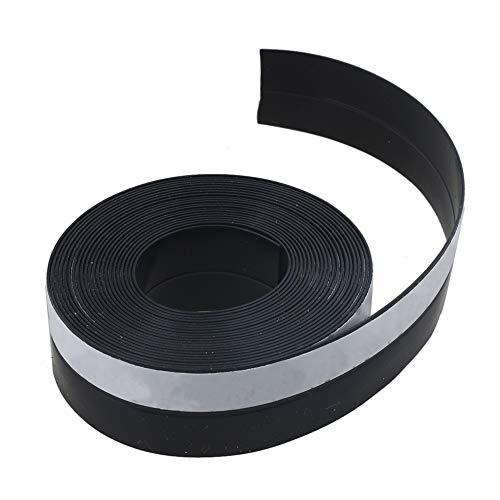 Door Seal Strip 16 Feet Length, Black Weather Stripping for Doors and Windows Door Draft Stopper Frameless Adhesive Soundproof Under Door Seal