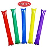 POPLAY Bam Bam Thunder Sticks,Cheerl eading Outfit, Inflatable Noisemakers, 100 PCS