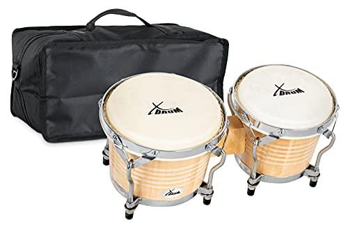 XDrum Bongos Pro Natur - 2 Trommeln mit 6,5