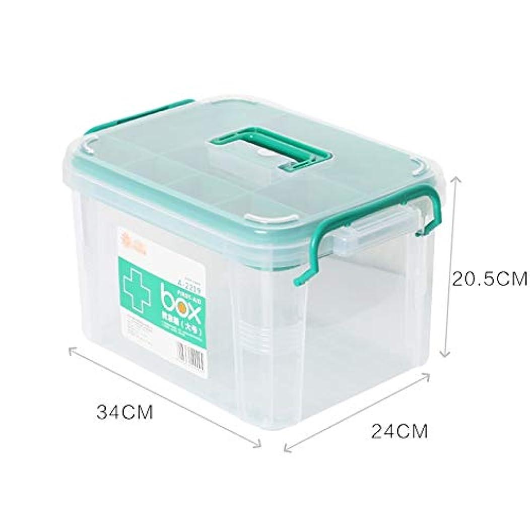 広大な耐える倫理HTDZDX 薬箱応急処置収納ボックス医療用チェストピルオーガナイザー (Color : Clear, Size : S)