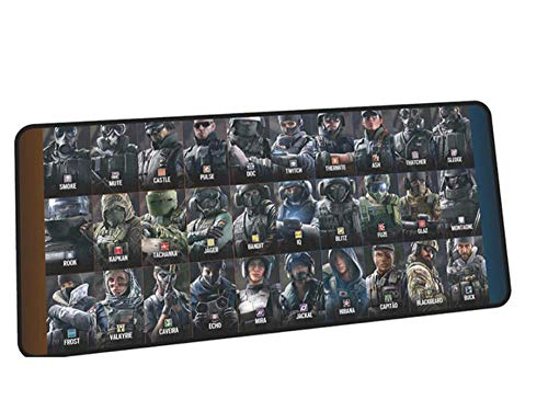 Gaming Mouse pad Rainbow Six Siege Mouse Pad Gamer Beautiful Mousepad Rubber Desk Mat Birthday Gaming Accessories Game Keyboard Mats C(40×90Cm)