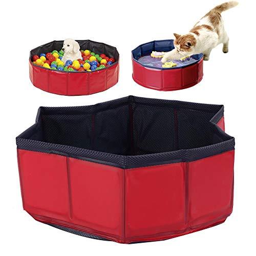 Cikonielf - Bañera de baño para gatos sin inflación, de PVC, plegable, para perros, bañera, para animales domésticos, bañera, ducha, para mascotas, estanque, para piscina para perros y gatos