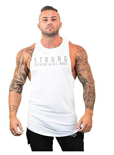 Camiseta de tiantes Deportiva Fitness de Hombre para el Gym y Entrenamientos de Alta Intensidad Tank Top