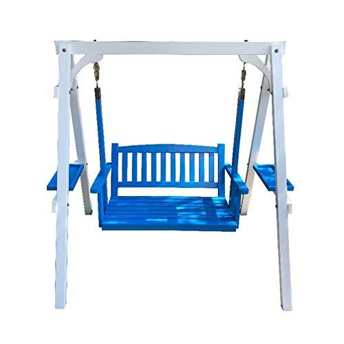 HLZY Al aire libre grande Swing Glider con soporte, Jardín Swing Exterior Muebles Patio Swing Silla de salón al aire libre Silla de columpio al aire libre, Muebles de patio Silla de hamaca