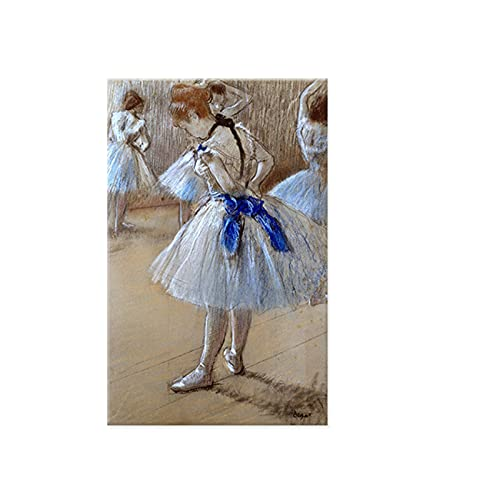 Figura lienzo arte Edgar Degas preparando bailarina imágenes de pared clásicas para sala de estar decoración del hogar pintura impresa-50x75 cm x1 sin marco