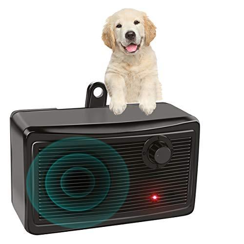 GWolffy Bark Control Device, Upgraded Mini Bark Control Device Outdoor Anti Barking Ultrasonic Dog Bark Control Sonic Bark Deterrents Silencer Stop...