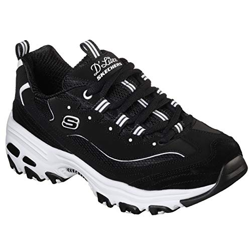Skechers Damen Sneaker D´Lites March Forward Schwarz/Weiß, Schuhgröße:EUR 41