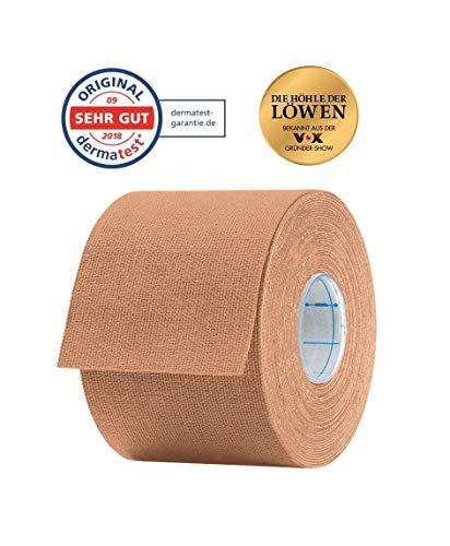 Aktimed Tape CLASSIC - 12 Stück Beige - Sport Kinesiologie Tape - elastische Bandage - Physio-Tape - Therapie-Tape - atmungsaktiv & hautfreundlich - latexfrei