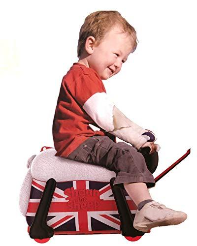 ひつじのショーン乗って遊べる子どもスーツケースこども用乗用玩具機内持ち込み可バッグ旅行キッズかばん乗れるキャリーバッグShaunTheSheepRideonSuitcaseBritishsaipo[並行輸入品]
