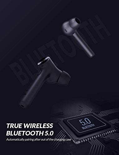 Bluetooth 5.0 Wireless Earbuds, Bluedio Hi(Hurricane) TWS Wireless Earbud Headphones in-Ear Earphones with Charging Case, Mini Car Headset Built-in Mic for Cell Phone/Running/Android, 5Hrs Playtime 6