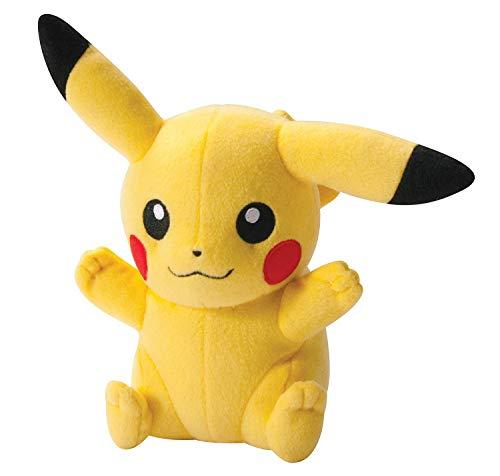 qwaszx -Pokemon, Pikachu en Peluche 20 cm et 45 cm (Oreille Oblique 20 cm)