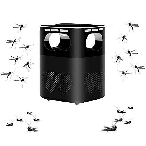 Lampe Anti-Moustique,éLectrique Tueur De Moustique avec LumièRe UV,Lutte Contre Les Insectes,ÉTanche,Chargement USB, pour La Cuisine Domestique Jardin Utilisation IntéRieure/ExtéRieure-Noir