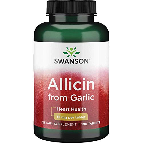 Swanson Maximum-Strength 100% Pure Allicin 12 Milligrams 100 Tabs