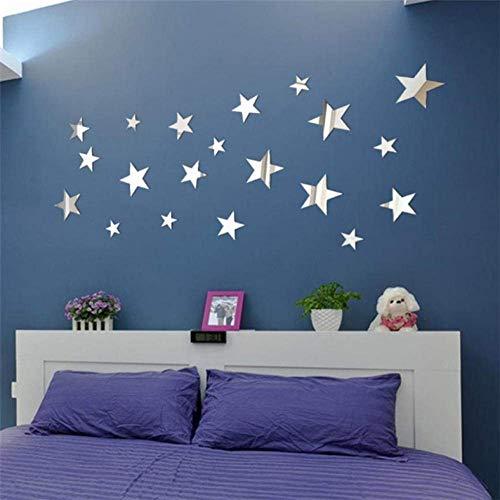 Muursticker Star Art Spiegel Muursticker muur voor woonkamer slaapkamer Stickers