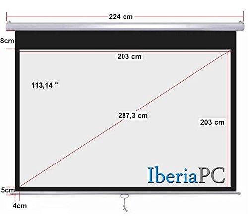 Pantalla proyector manual (2,03m x 2,03m): Amazon.es: Electrónica