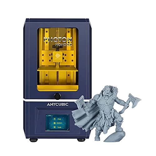 ANYCUBIC Stampante 3D Photon Mono SE, UV LCD SLA resina 3D con 6 pollici 2K LCD monocromatico e UV Sistema di raffreddamento,Velocità di stampa 80 mm/h, 130 x 78 x 160 mm