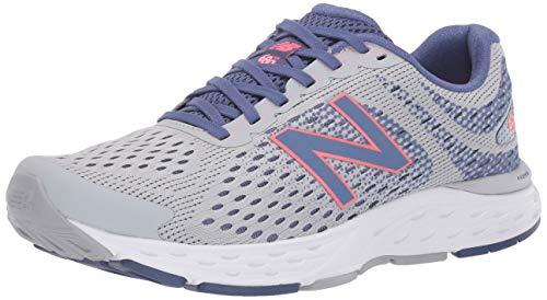 New Balance Women's 680 V6 Running Shoe, Light Aluminum/Magnetic Blue, 10.5