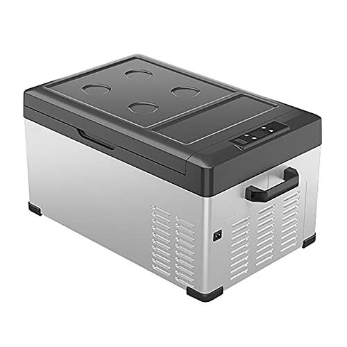 GETZ Nevera Eléctrica Portátil Nevera Portátil para Coche DC 12V 24V AC 220V Mini Refrigerador para Coche Congelador para Conducir Viajes Picnic Al Aire Libre