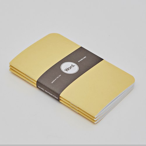 Word. Notebooks Yellow - 3-Pack Small Pocket Notebooks Photo #3