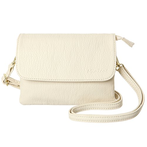 Material and Dimension:MINICAT women small crossbody purse design with superior soft Synthetic leather with Lchee texture and GOLD color of hardware,which is durable and nice.Small purse inside is in lined with MINICAT LOGO fabric material to avoid f...