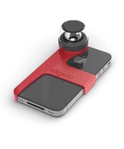 Kogeto Dot - Cámara panorámica de 360° para iPhone, color rojo