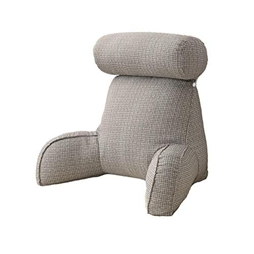 UKKD Memory Foam Stuhlkissen Reading Pillow with Armrest Detachable Back Support Chair Cushion Bed Plush Big Backrest Rest Removable Neck Pillow Home Decor