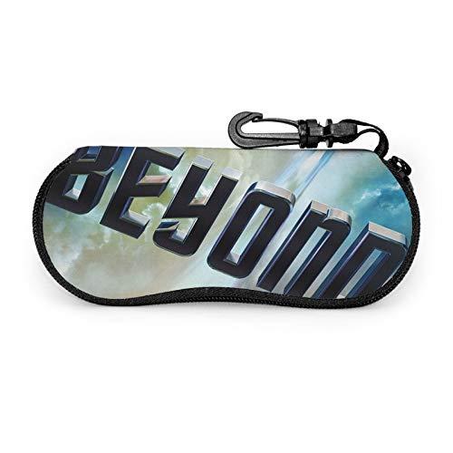 Star Trek - Funda suave para gafas de sol, neopreno con cremallera y clip para cinturón para gafas, marcos, bolsa de transporte para maquillaje, llaves, lápices