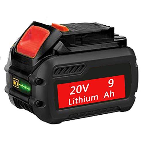 9000mAh 20V High Capacity MAX Lithium Premium Battery Compatible with Dewalt XR DCB200 DCB204 DCB205 DCB206 DCB209 DCD/DCF/DCG