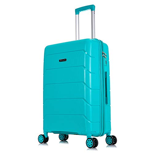 Boarding Travel Luggage Lightweight 4 Spinner Wheels Hard Shell Trolley Case 20'/24'/28' (20',A)