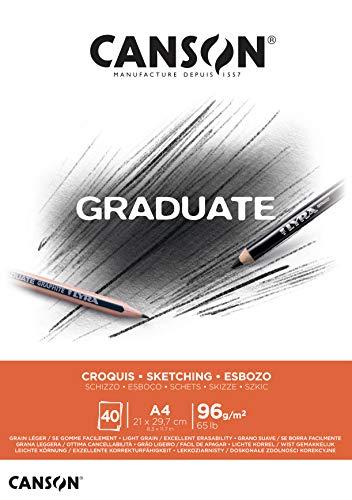 Canson Graduate Croquis Bloc Encolado A4 40H Fino 96g