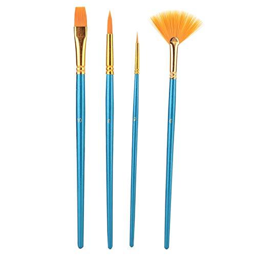 Juego de bolígrafos de pincel de acuarela Pinceles de pintura Pinceles de arte 4 piezas Pinceles de pintura de nailon para el cabello para pintar