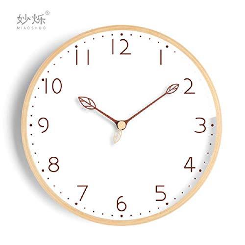 Wanduhr Nordic Creative Wanduhr Massivholz Tischuhr Stille Uhren Wand Home Decor Wohnzimmer Home Watch Schlafzimmer Reloj Geschenk 14Inch Style2