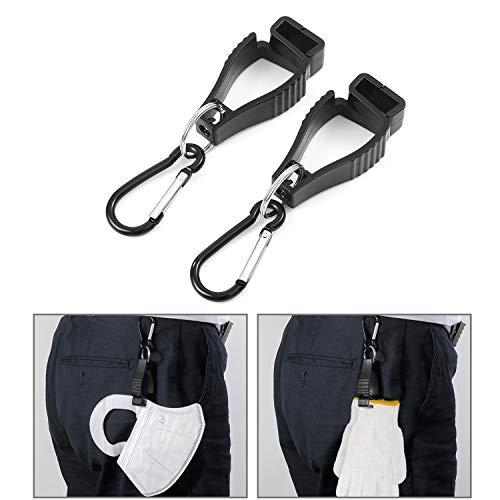Handschuclip 2 Stück Clip handschuhhalter Schwarz Tarp Clip Aufdruck Handschuhhalter gürtel zur Befestigung an Hosen oder Jackenschlaufen für Schutzhandschuhe, Arbeitshandschuhe oder Taschenlampe